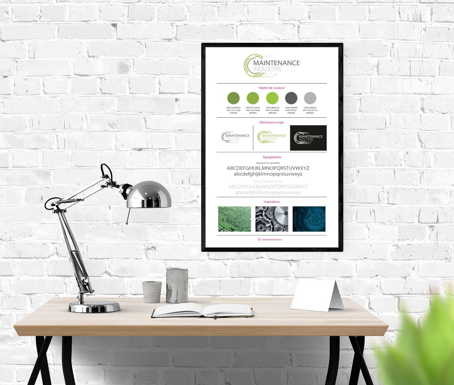 Identité visuelle Maintenance Industrie